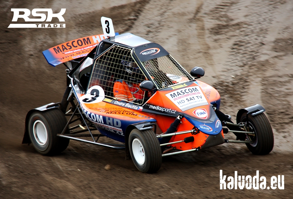 Kartcross on car engine